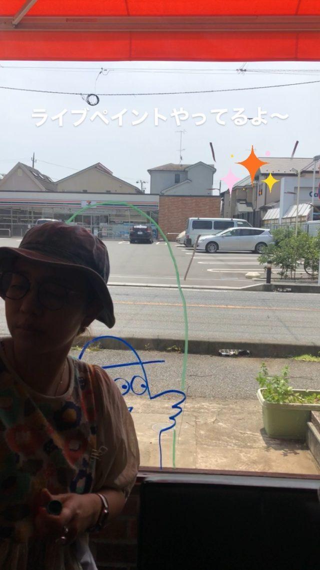 店主ライブペイントやってるよ〜